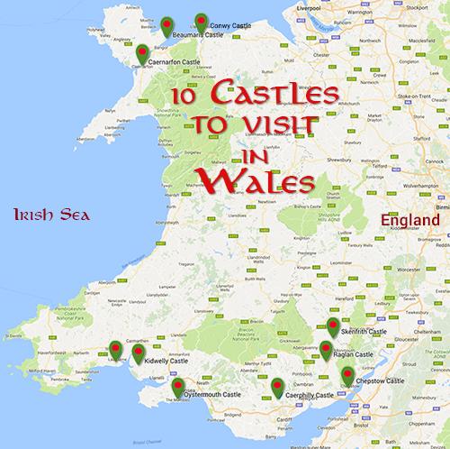 Visit Wales! Over 600 castles.